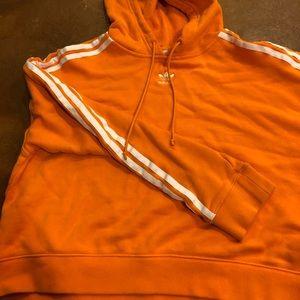 Bright orange adidas hoodie